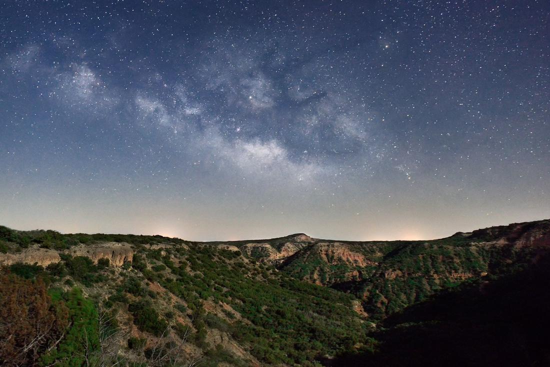 Milky Way in Moonlight