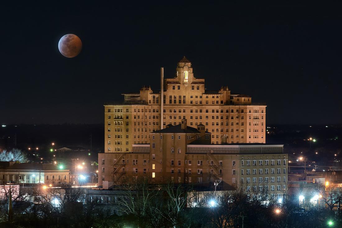 2019 Lunar Eclipse: Mineral Wells, TX