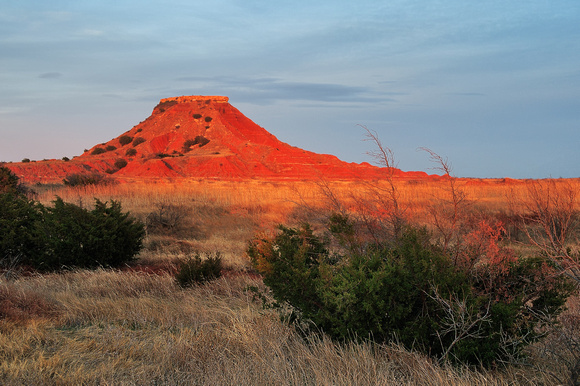 Gloss Mountains Sunset