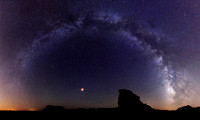 Milkyway and Blood Moon: Palo Duro Canyon