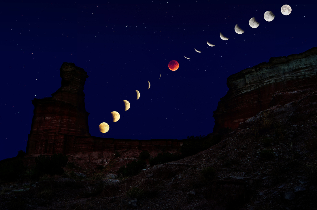 2015 Lunar Eclipse: Palo Duro Canyon, TX