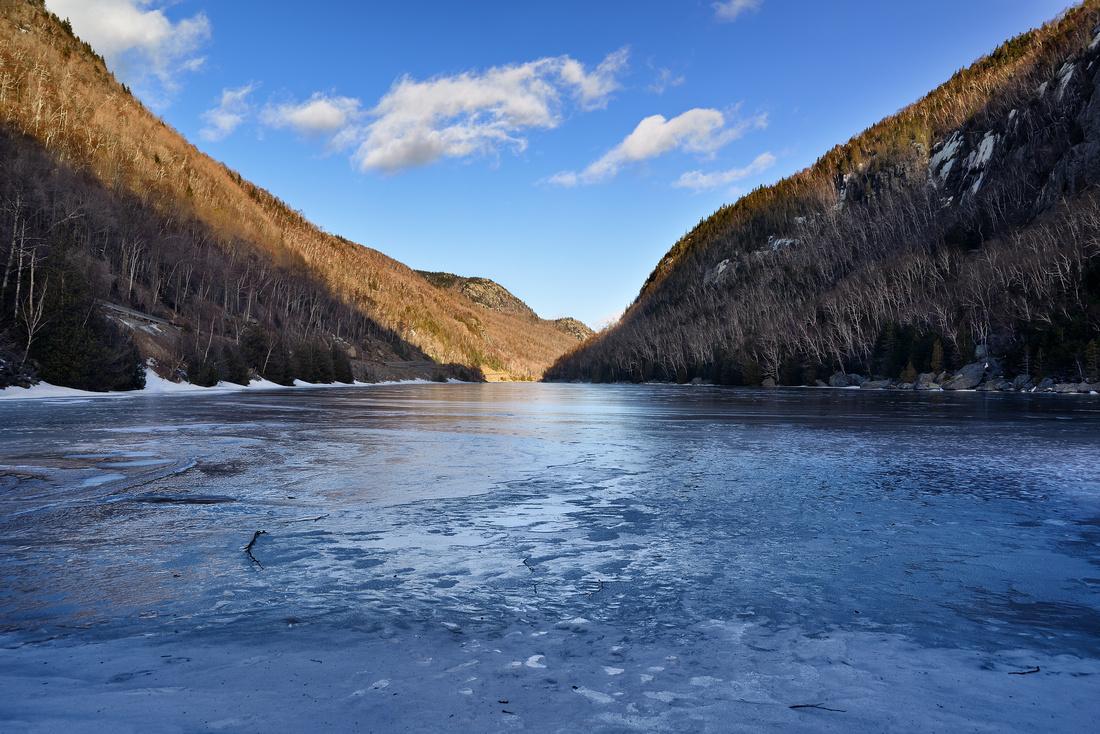 Frozen Cascade Lake