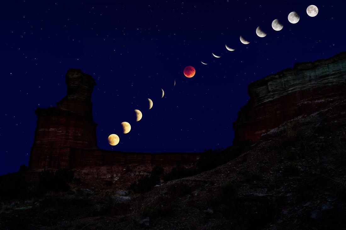 2015 Lunar Eclipse: Palo Duro Canyon, TX